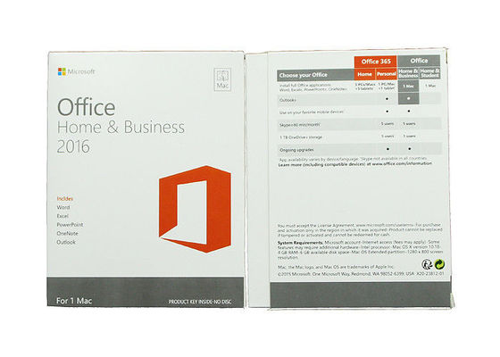 English Language Microsoft Office 2016 Home And Business Key