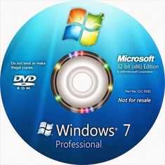 China DVD Version Windows 7 Pro OEM Key Win 7 Professional 64 Bit Operating System supplier