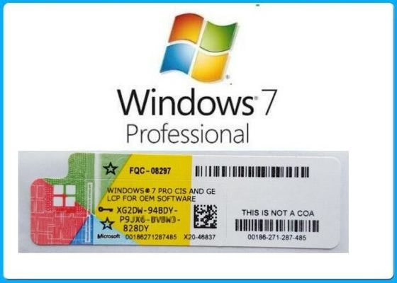 China English Language Windows 7 Pro OEM Key Professional Full Package With DVD OEM BOX supplier