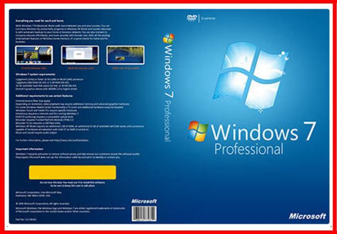 Computer Windows 7 Pro genuine product key COA sticker global area activation