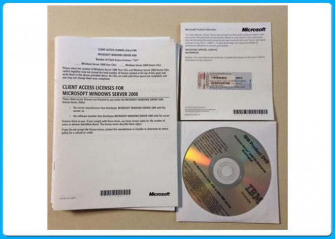 OEM COA Sticker 64Bit 25cals Windows Server 2008 R2 Enterprise Online Activation