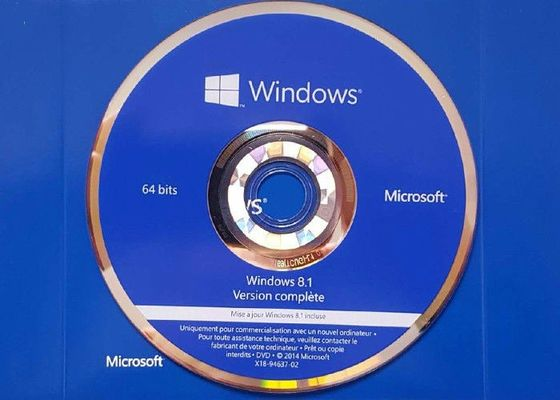 China English / French Windows 8.1 Pro OEM Key , CD Key Windows 8.1 Pro 64 Bit  Retail Box factory
