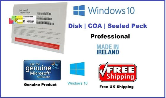 China OEM BOX Pack Microsoft Windows 10 Pro OEM Key Professional 64 Bit Upgrade factory