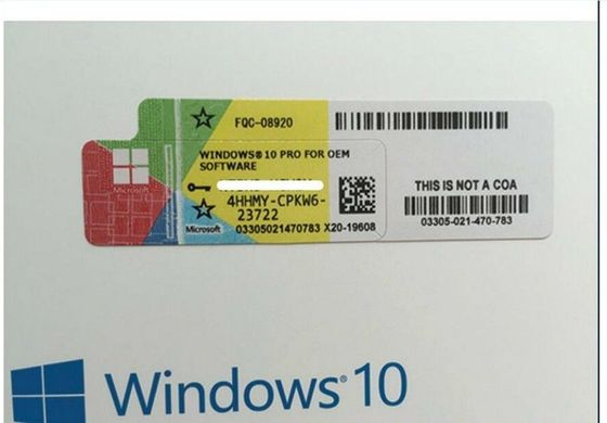 China FQC 08788 Microsoft Windows 10 Pro Upgrade , Windows 10 Professional 64 Bit Product Key factory