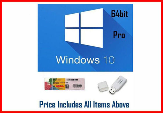 China Unique Windows 10 Pro OEM Key Microsoft Office 2016 Pro Retail Version COA Sticker factory
