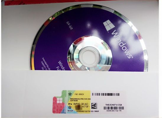 China 100 % Genuine Windows 10 Pro OEM Key COA License Sticker SP1 OEM Pack DVD factory