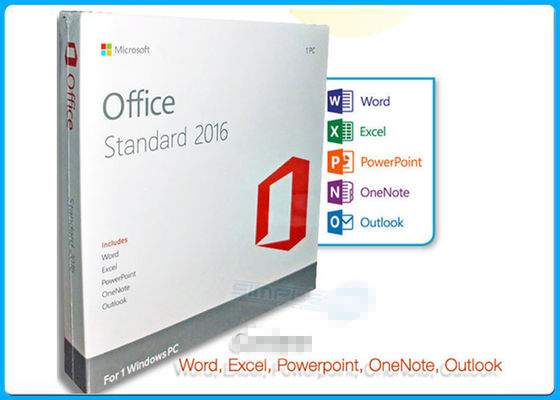 China 32 / 64 BIT Microsoft Office 2016 Standard License English Language Version distributor