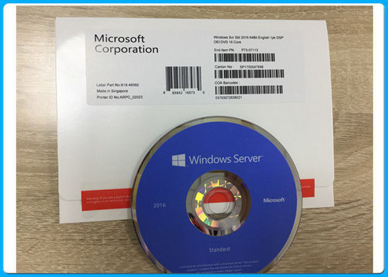 China 100% Activation Microsoft Windows Server 2016 Standard X64 16 Core P73 - 07113 distributor