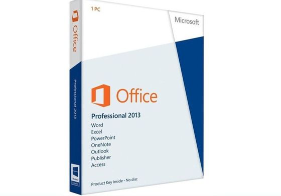 China Genuine Microsoft Office Product Key Code , Microsoft Office 2013 Professional Retail Box distributor
