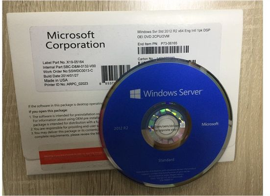 China COA 5 Cals Microsoft Windows Server 2012 R2 Standard Open License PC Operating System distributor